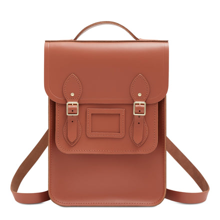 Portrait Backpack in Leather - Nutmeg | Unisex Leather Backpack
