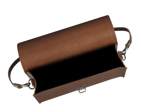 Large Push Lock in Leather - Vintage