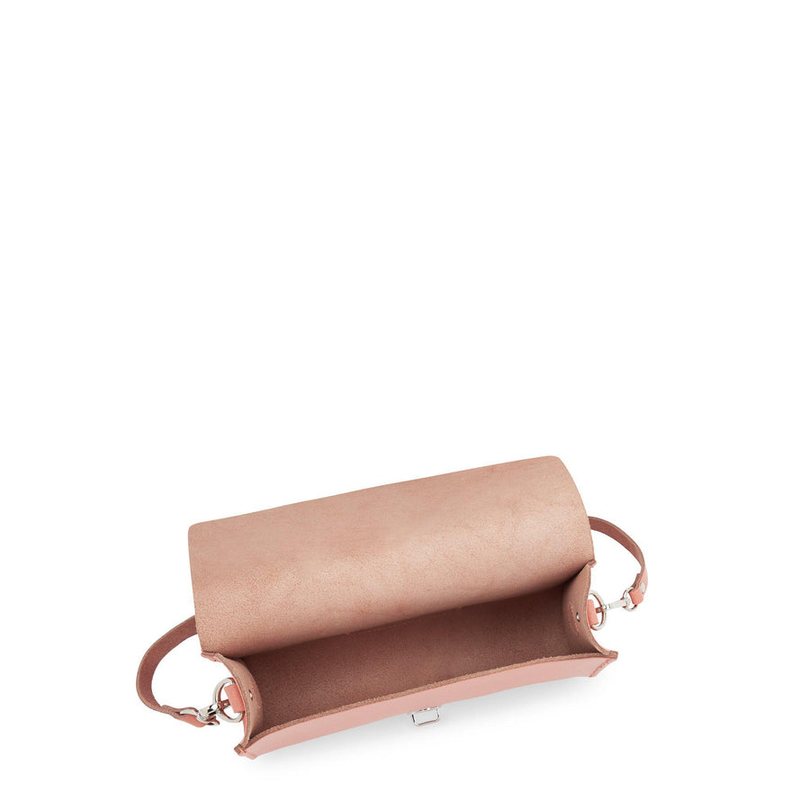 Large Push Lock in Leather - Terracotta