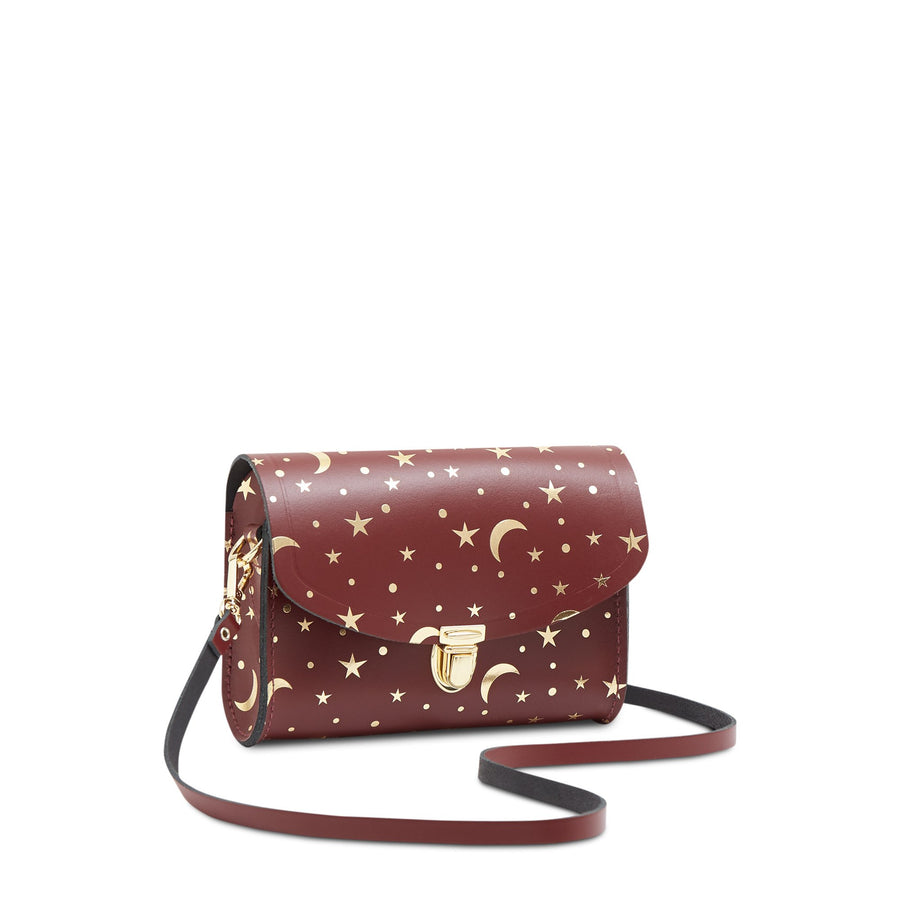 Push Lock in Leather - Starstruck on Oxblood | Women's Clutch & Cross Body Bag