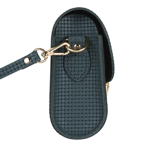 Push Lock in Leather - Fir Lattice