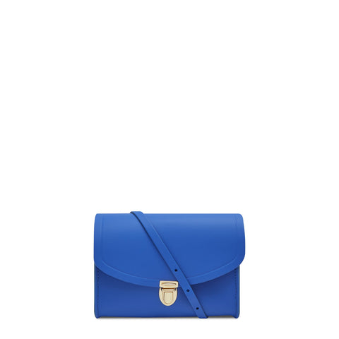 Push Lock in Leather - Electric Cornflower Matte | Cambridge Satchel