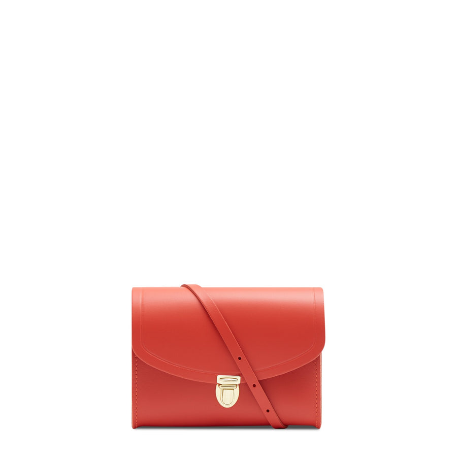 Push Lock in Leather - Spice | Women's Clutch & Cross Body Bag