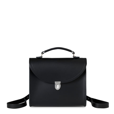 Poppy Backpack in Leather - Black