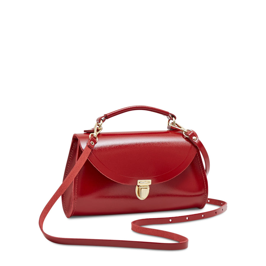 Mini Poppy Bag in Leather - Glamour | Women's Cross Body Bag