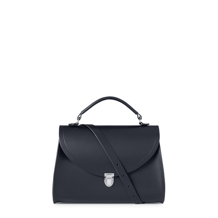 Poppy Bag in Leather - Navy