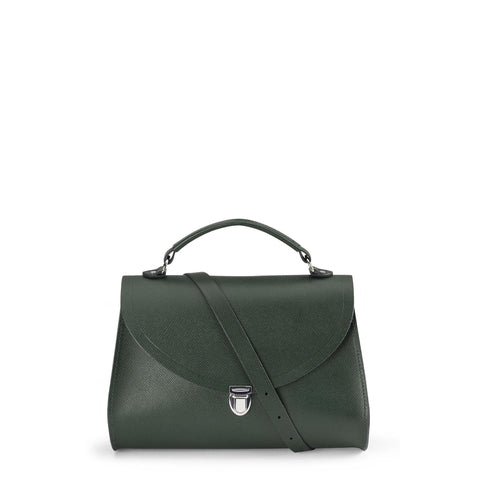 Poppy Bag in Saffiano Leather - Racing Green Saffiano