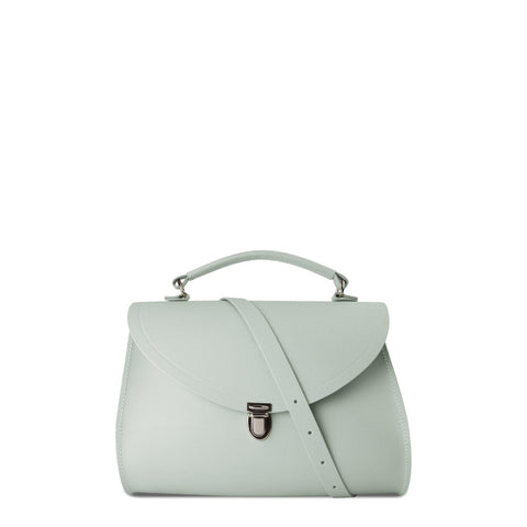 Poppy Bag in Leather - Matte Eggshell Saffiano