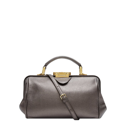 The Sophie - Pewter Calf Grain Leather | Cambridge Satchel Company