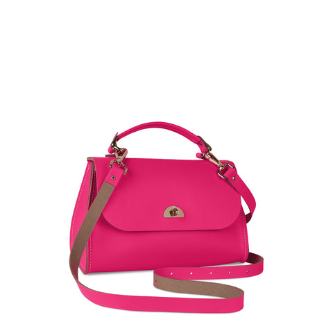 Daisy Bag in Leather - Fluoro Pink