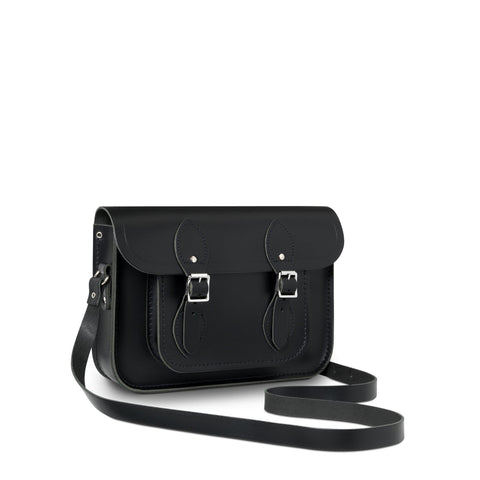 11 inch Classic Satchel in Leather - Black