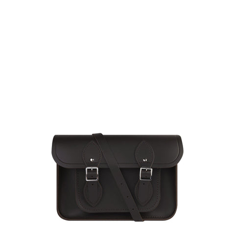 11 inch Magnetic Satchel in Leather - Dark Brown