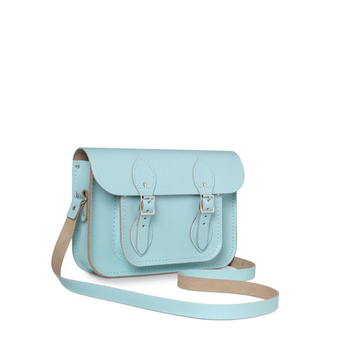 University of Cambridge 11 inch Satchel in Leather - Cambridge Blue