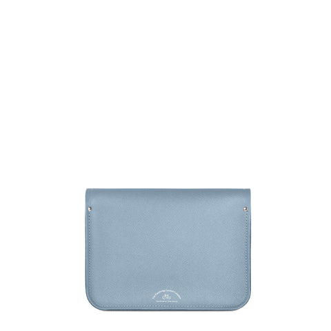 11 inch Magnetic Satchel in Leather - French Grey Saffiano