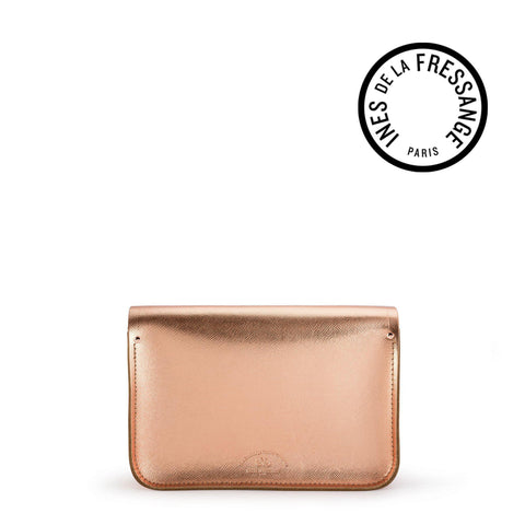 Ines De La Fressange 11 Inch Satchel in Saffiano Leather - Copper