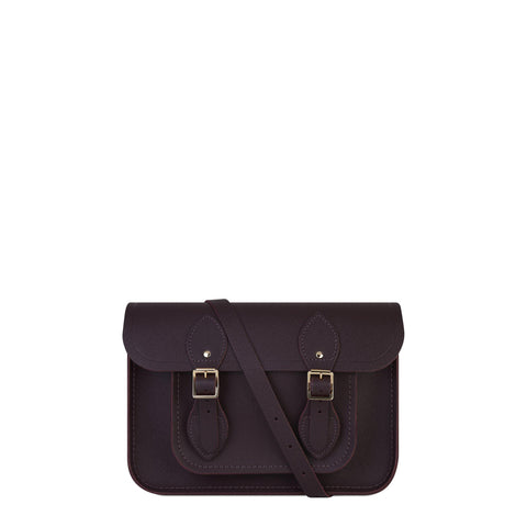11 inch Magnetic Satchel in Leather - Juniper Saffiano