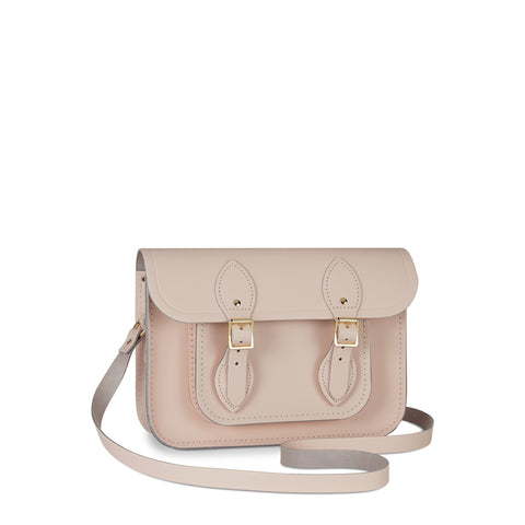 11 Inch Magnetic Satchel in Leather - Cloud Pink Matte | Cambridge Satchel