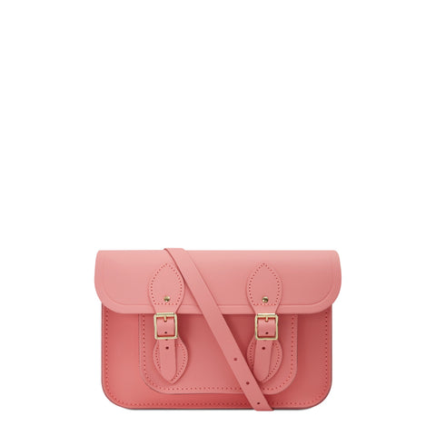 11 inch Magnetic Satchel in Leather - Hot Rose Matte | Cambridge Satchel