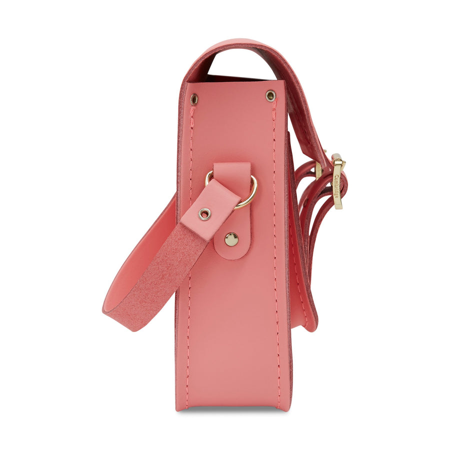 11 inch Magnetic Satchel in Leather - Hot Rose Matte