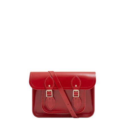 11 inch Magnetic Satchel in Leather - Glamour | Unisex Leather Satchel