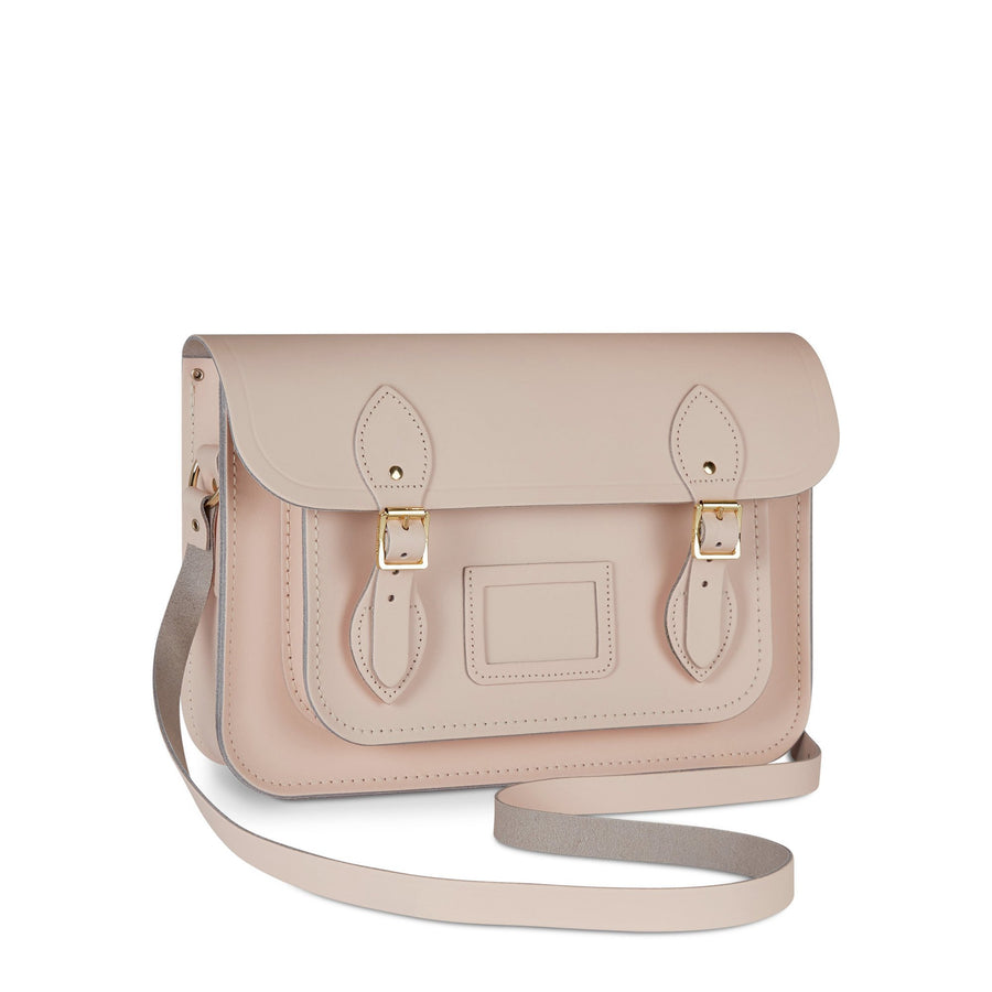 13 Inch Magnetic Satchel in Leather - Cloud Pink Matte | Cambridge Satchel