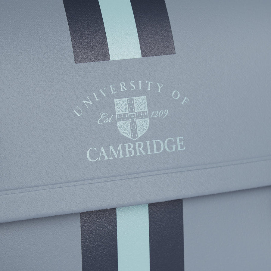 15 inch University of Cambridge Satchel in Leather - French Grey