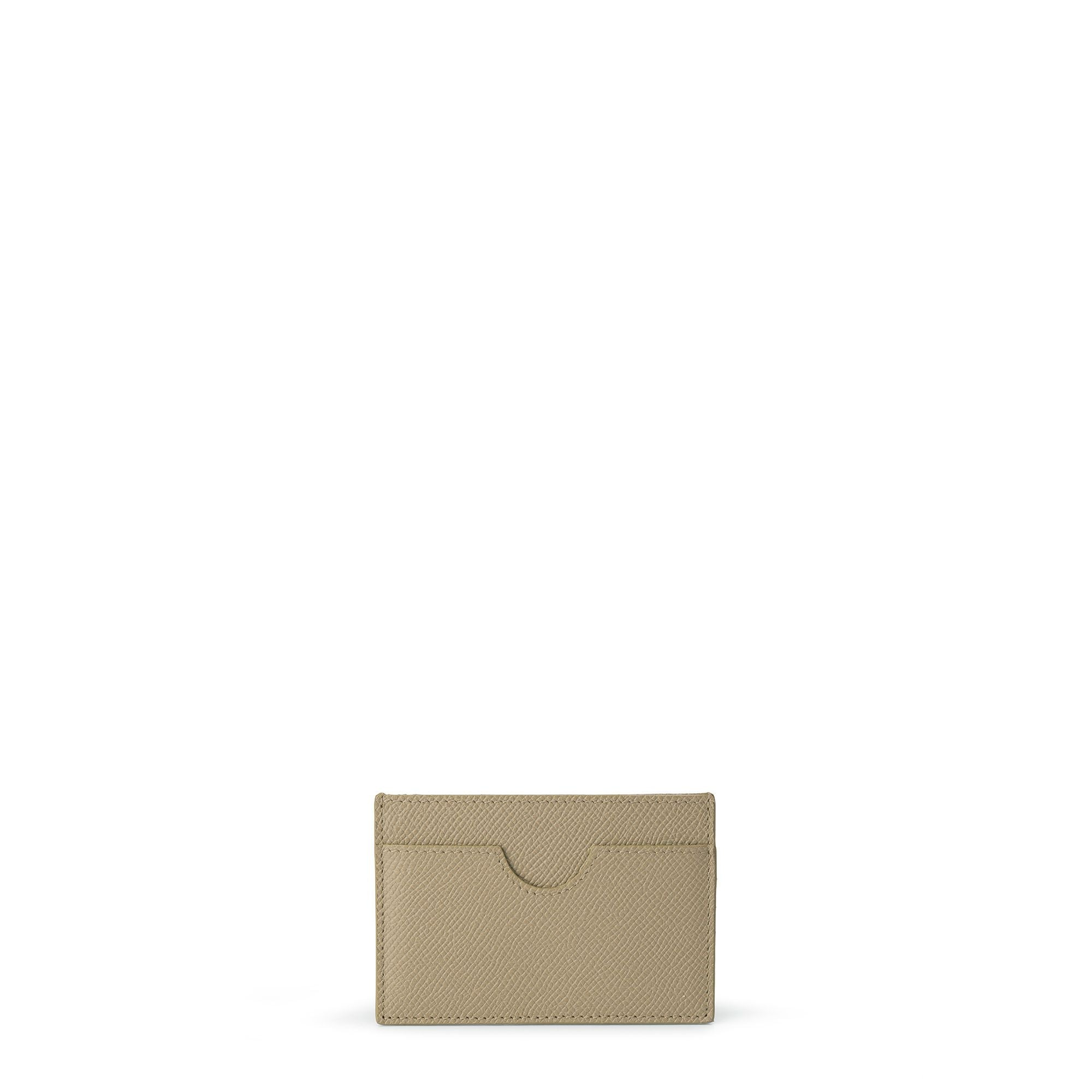 Card Case in Saffiano Leather - Putty Saffiano