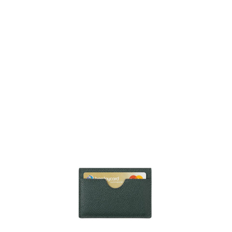 Card Case in Saffiano Leather - Racing Green