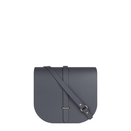 Large Saddle Bag in Leather - Storm Matte