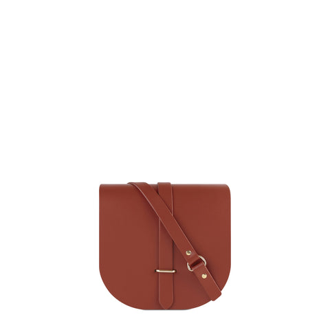 Saddle Bag in Leather - Russet