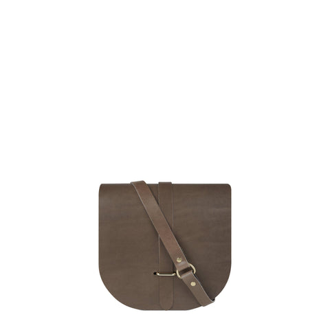 Saddle Bag in Leather- Grey