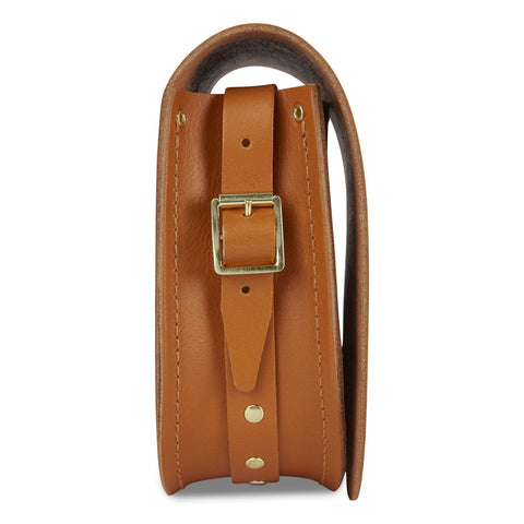 Saddle Bag in Leather - Canyon & Brass Rivets on Shoulder Strap