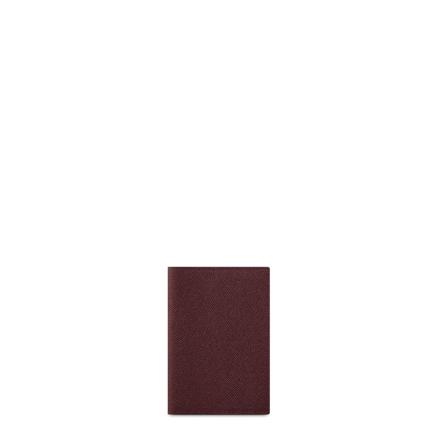 Passport Cover in Saffiano Leather - Oxblood Saffiano