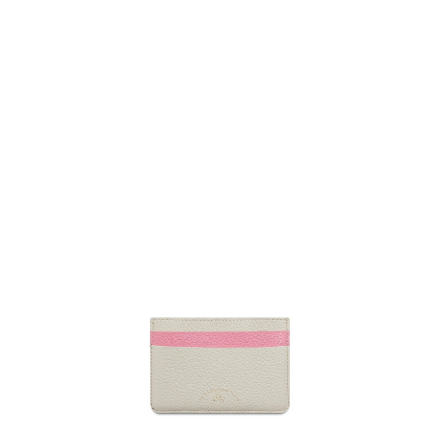 The Cambridge Satchel Company Scoop Side Card Case in Leather - Pink / Taupe