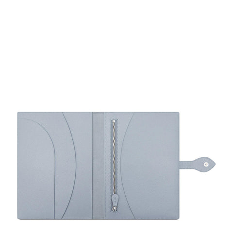 Travel Document Case in Saffiano - French Grey Saffiano