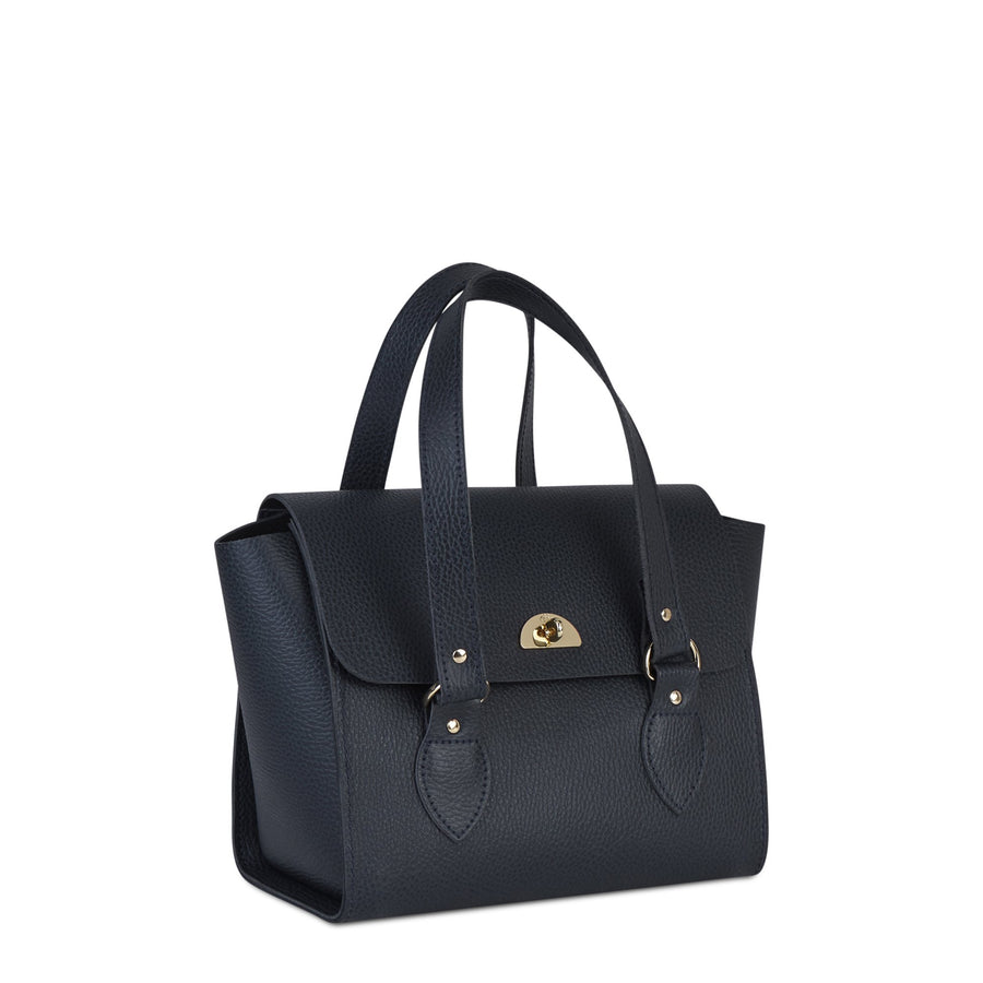 The Small Emily Tote - Navy Celtic Grain