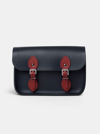 The Little One in Leather - Navy & Red