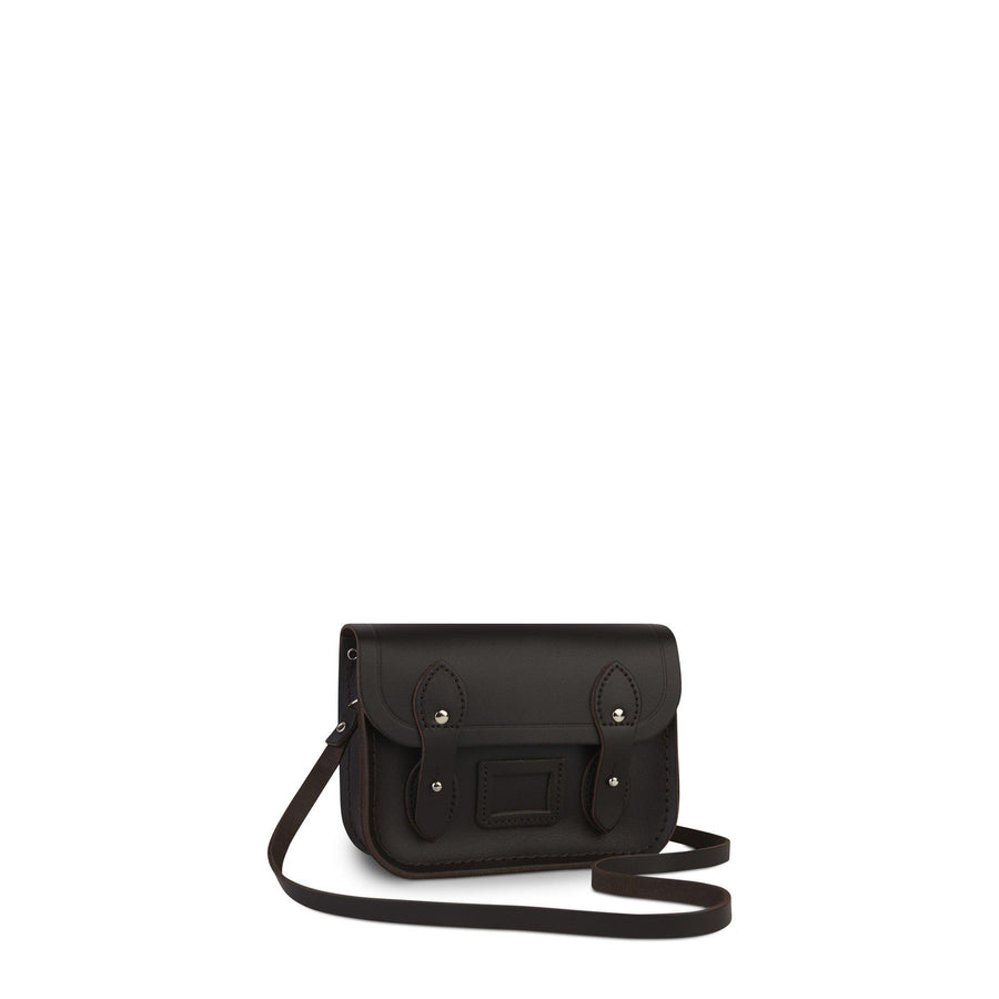 Tiny Satchel in Leather - Dark Brown