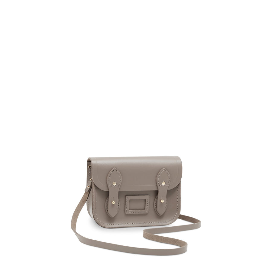 Tiny Satchel in Leather - Mink | Women's Clutch Bag & Cross Body