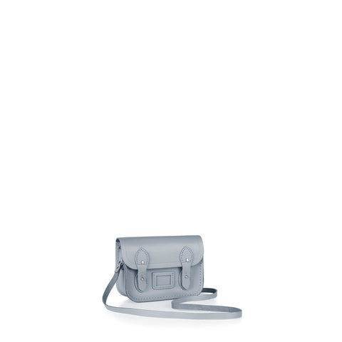 Tiny Satchel in Leather - French Grey