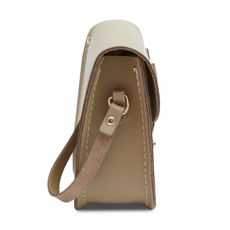 Tiny Satchel in Leather - Sandstone | Women's Cross Body & Clutch Bag