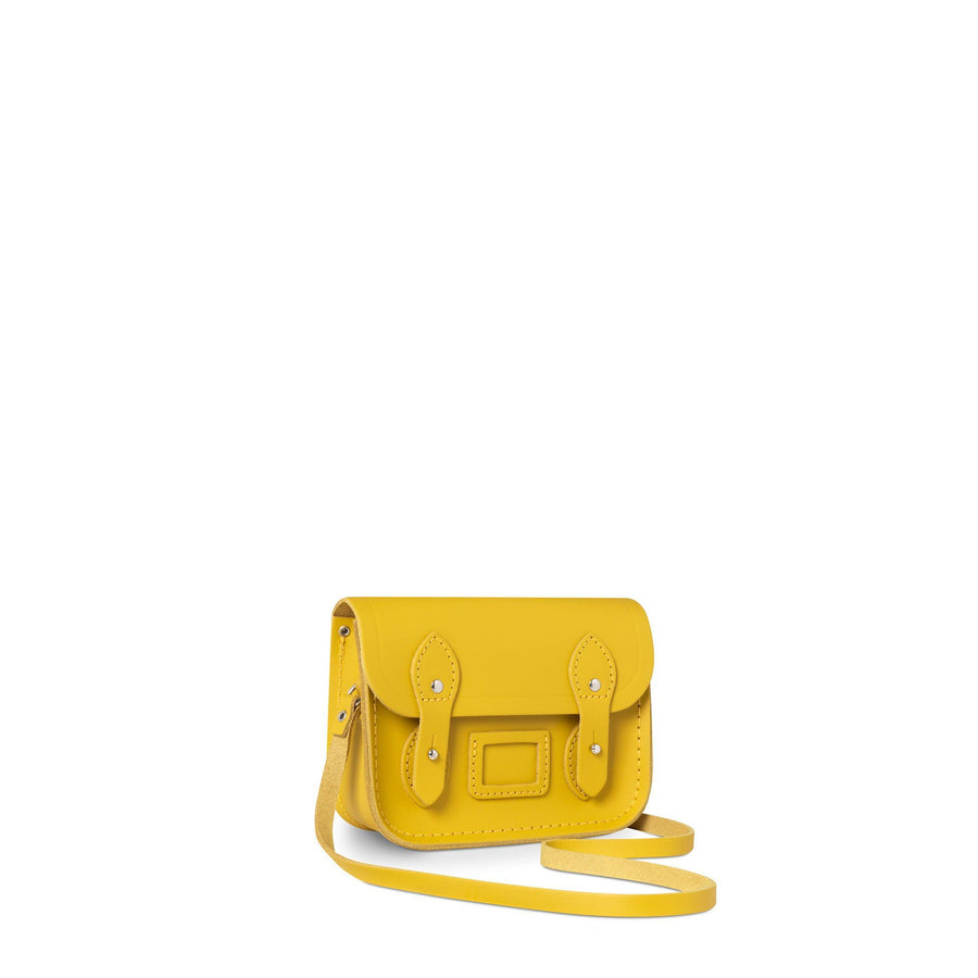 Tiny Satchel in Leather - Mustard Matte