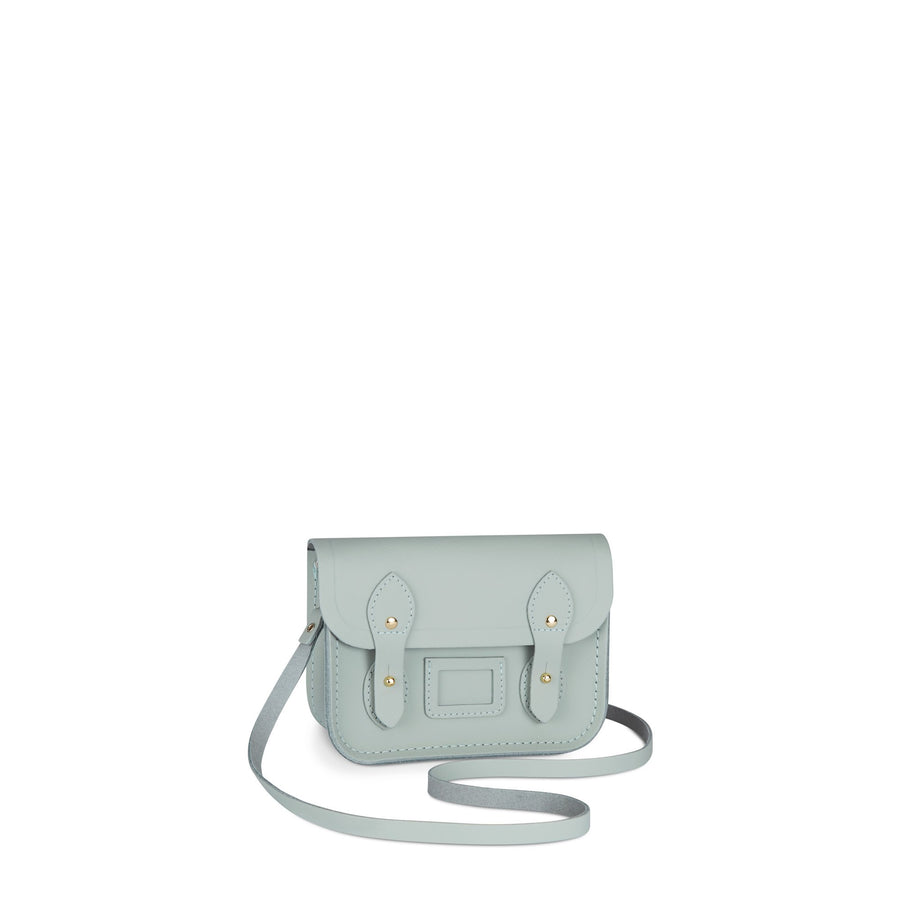 Tiny Satchel in Leather - Sea Foam Matte | Women's Cross Body & Clutch Bag