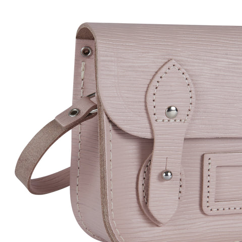 Tiny Satchel in Leather - Dusky Rose 1914 Grain