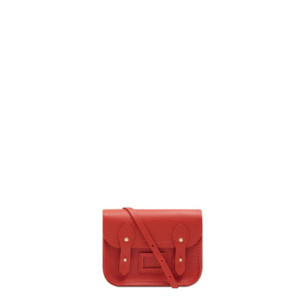 Tiny Satchel in Leather - Spice | Women's Clutch Bag & Cross Body