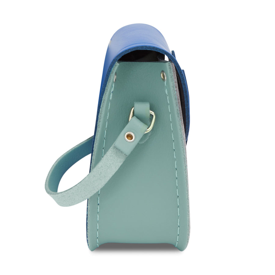 Tiny Satchel in Leather - Brilliant Sage Matte, Electric Cornflower Matte & Dreamy Peony Matte