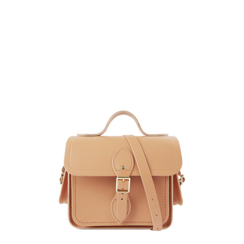 Traveller Bag with Side Pockets in Leather - Sand