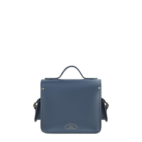 Traveller Bag with Side Pockets in Leather - Peacock