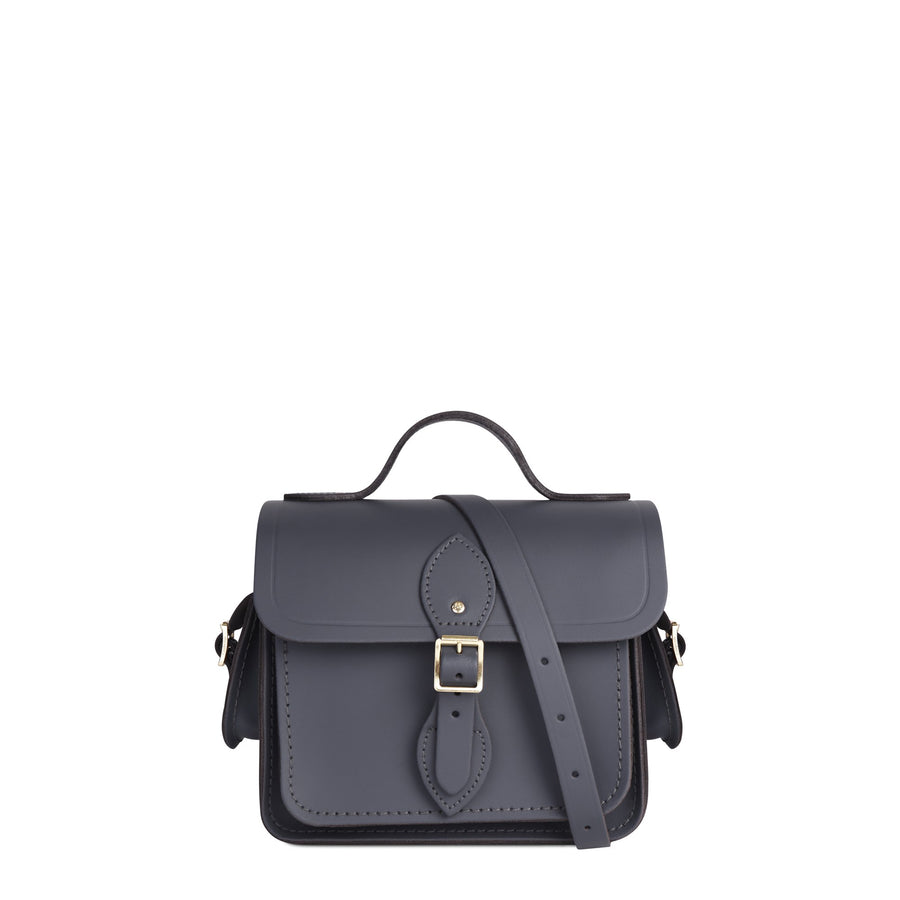 Traveller Bag with Side Pockets in Leather - Storm Matte | Unisex Cross Body Bag