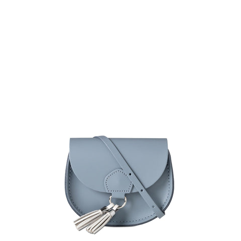 Mini Tassel Bag in Leather - French Grey